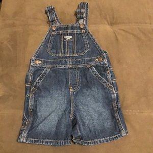 OshKosh Bgosh denim short overalls. Size 24months